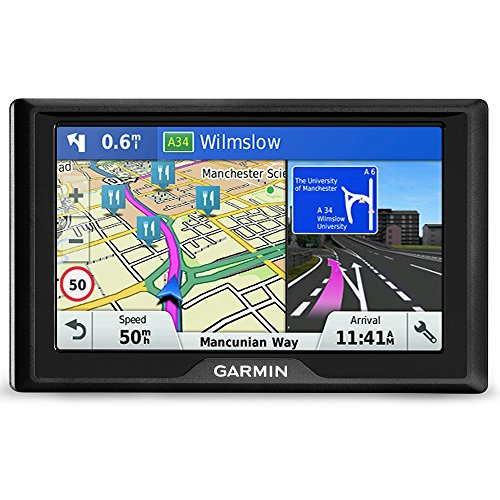 Garmin Drive 51LMT-S 5 Inch Sat Nav with Lifetime Map Updates for UK and Ireland and Free Live Traffic, Black