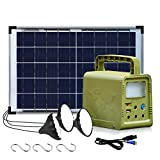 ECO-WORTHY 84Wh Portable Power Station, Solar Generator with 18W Solar Panel, Flashlights, Camp Lamps with Battery, USB DC Outlets, for Outdoor Camping, Home Emergency Power Supply, Hurricane, Fish