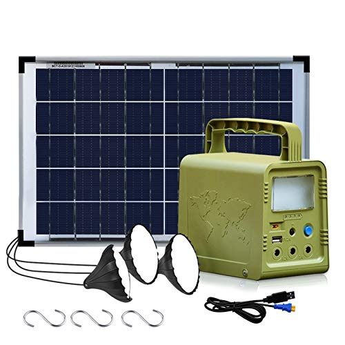 ECO-WORTHY Solar Powered Generator 84Wh, Portable Power Station with 18W...