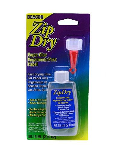Beacon Zip Dry Paper Glue 2 oz. [PACK OF 2 ]