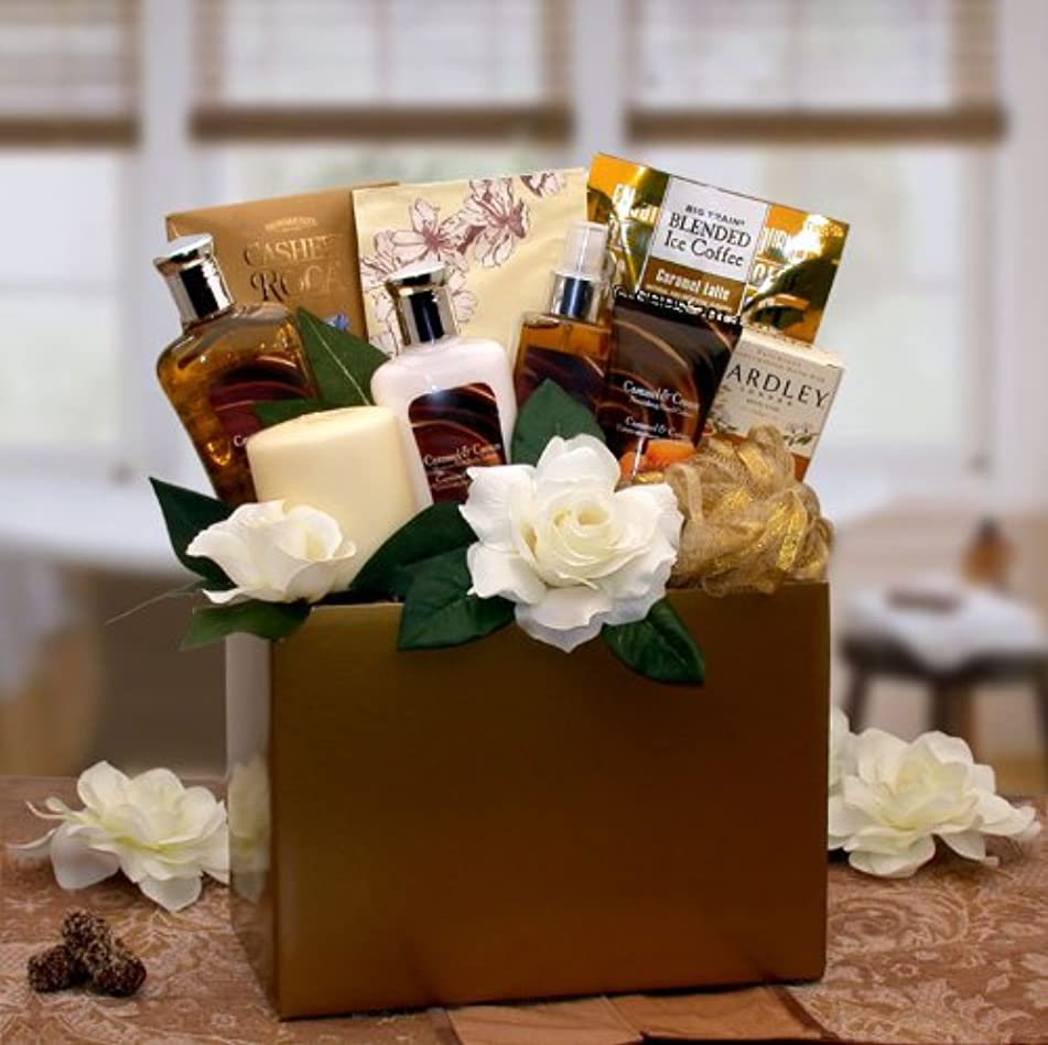 Caramel and Cream Spa Gift Basket - Makes a Great Mothers Day Gift