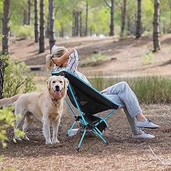 Diealles Shine Chaise de Camping Pliante Portable Chaise de Pêche Compact Ultra-légère avec Sac de Transport pour Randonnée, Barbecue