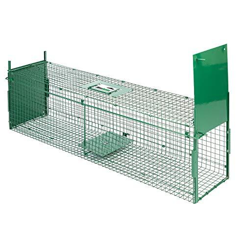 MaxxGarden - Piège à fouine, 60 x 18 x 20 cm, piège à Rats, Double entrée, Pliable, Couleur Vert Camouflage