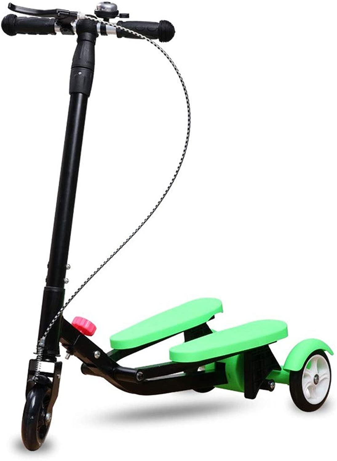 ZAIHW 3 Wheeled Scooter Push Swing Wiggle Scooters Speeder Wheel Kick Scooter for Boys Girl Adult Ages 3-15