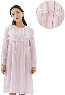 6fd69947 Camisones Mujer Primavera Otoño Manga Larga Ropa para El Hogar Cuello  Redondo Pijama Elegantes Moda Joven