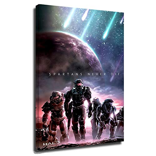 Halo Infinite Game Character Poster Wall Art Picture Print Home Artwork Mech Warrior Halo Armor Halo Game 20x30 Inch