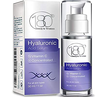Hyaluronic Acid Serum for Face - 180 Cosmetics - Face Lift Skin Serum for Face and Eyes - Pure Hyaluronic Acid For Immediate Results - Hydrating - Anti Aging - Anti Wrinkle