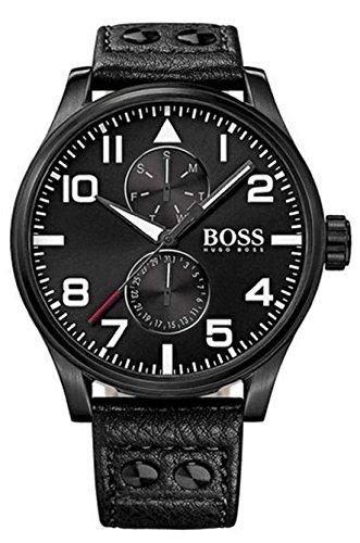 HUGO BOSS Uhr herren Sport Aeroliner Maxx HB1513083 leder schwarz