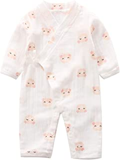Baby Kimono Romper Cotton Yarn Robe Newborn Infant Bodysuit Summer Japanese Pajamas
