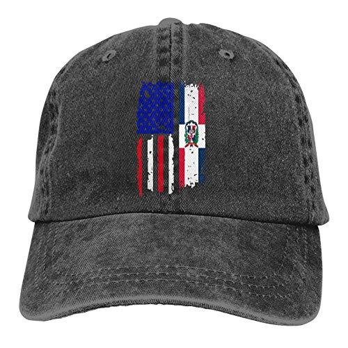 WH-CLA Unisex Baseball Kappe Dominikanische Republik Amerikanische Usa Flag Pride Tennis Golf Kappe Verstellbar Baseballmütze Herren Damen Papa Hüte Atmungsaktiv Laufen Cap