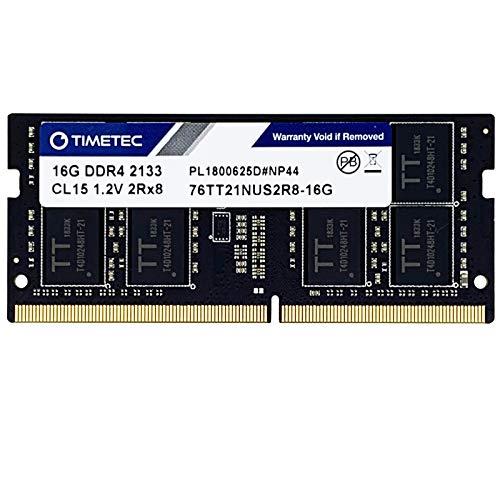 Timetec Hynix IC DDR4 2133MHz PC4-17000 Unbuffered Non-ECC 1.2V CL15 1Rx8 Single Rank 260 Pin SODIMM Laptop Notebook Computer Memory Ram Module Upgrade (16GB)