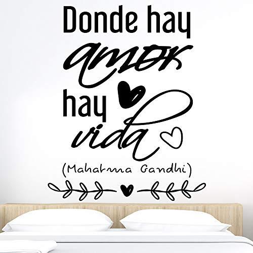 Docliick® Vinilos de pared decorativo con frase decorativa