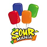 Yummy Lix Sour Mania Gourmet Lollipops, (Pack of 24)