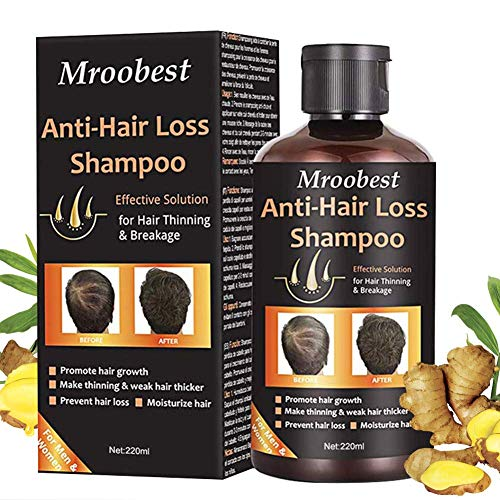 Anti-Hair Loss Shampoo, Hair Growth Shampoo, Effective Solution for Hair Thinning & Breakage, Helps Stop Hair Loss, Grow Hair Fast, Hair Loss Treatment for Men & Women(220mL)