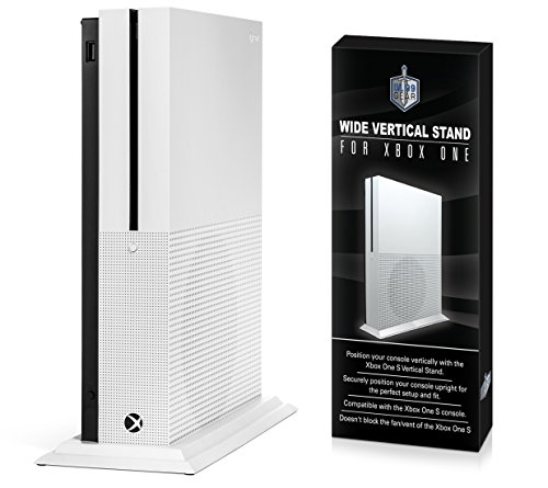 Wider Xbox One S Stand - More Secure Xbox One S Console Vertical Stand - Premium Xbox One...