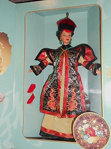 BARBIE poupée brune CHINESE EMPRESS l'empire chinois, tenue robe chinoise - THE GREAT ERAS COLLECTION - boite vitrine s'ouvrant comme un coffret - mattel 1996