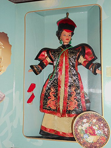 BARBIE poupée brune CHINESE EMPRESS l'empire chinois, tenue robe chinoise - THE GREAT ERAS COLLECTION - boite vitrine s'ouvrant comme un coffret - mattel 1996