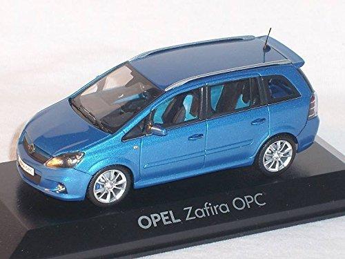 OPEL ZAFIRA OPC B BLAU 1/43 MINICHAMPS MODELL AUTO MODELLAUTO SONDERANGEBOT