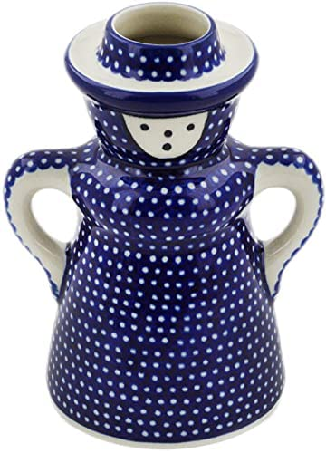 Polish Pottery 4¾-inch Candle Holder Sale Special Price by Ceramika Seasonal Wrap Introduction Artystyczn Made