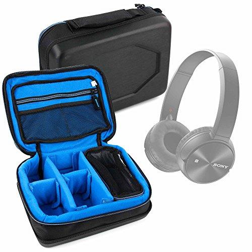 DURAGADGET Bolsa Acolchada Profesional Negra con Compartimentos para Auriculares ArkarTech M180 / Beyerdynamic DT 880 Edition, DTX 910 / Efoshm S-11 / Logitech H340