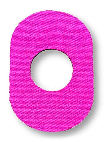 FixTape cinta transpirable para sensor Freestyle Libre 1 & 2 I Parche autoadhesivo cómodo para sensor de glucosa I Amigable con la piel e impermeable en diseños modernos I 7 piezas (Rosa)