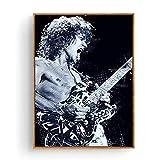 Qqwer Bruce Springsteen Carlos Santana Santana Dimebag Darrell Eddie Van Halen Póster Arte De La Pared Pintura En Lienzo Decoración Para El Hogar -50X70Cmx1Pcs -Sin Marco