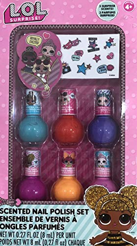L.O.L Surprise Scented 6 Pack Nail Polishes Gift Set For Girls