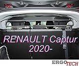 ERGOTECH Rejilla Separador protección para Renault Captur RDA65HBG-2HXXS, para Perros y Maletas. Segura, Confortable...