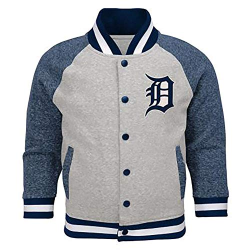 Outerstuff MLB Toddler Game Pride Primary Logo Bomber Jacket (4T, Detroit Tigers)