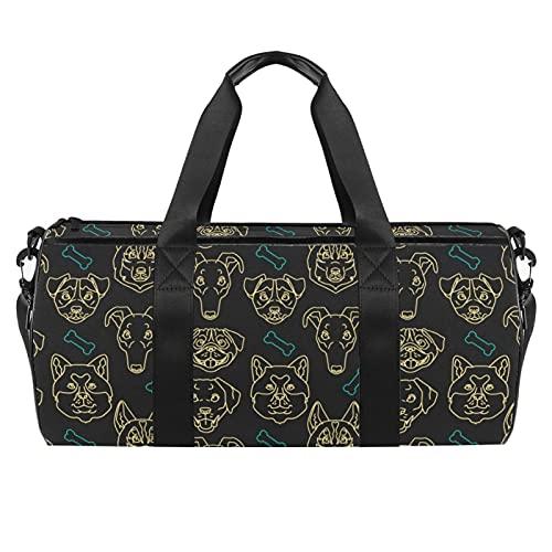 Bolsas de viaje para mujer, color verde morado, diseño de peces de acuarela para mujer, bolsa de deporte de gimnasio, bolsa de deporte para entrenamiento, bolsa de hombro para la noche