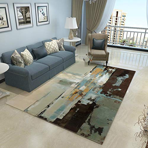 Art abstrait Tapis Chambre Salon Maison Rectangle Tapis 10.19 (Color : B, Size : 140cmx200cm)