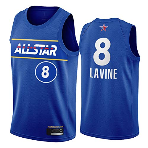 Zach LaVine - Camiseta de baloncesto para hombre, diseño de Chicago Bulls 8 # Jersey 2021 All-Star Youth Swingman Jerseys New Season Impreso Camisetas Deportivas Top L