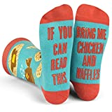 Lavley - If You Can Read This, Bring Me Some Chicken & Waffles - Novelty Socks Gift for Men and Women