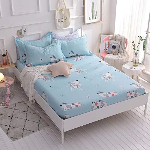HPPSLT Protector de colchón/Cubre colchón Acolchado, Ajustable y antiácaros. Sábana de algodón Antideslizante de una Sola Pieza-7_1.2 * 2m