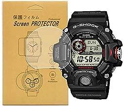 [5-Pcs]For Casio GW-9400 /GW9400 Watch Screen Protector, Full Coverage Screen Protector HD Clear Anti-Bubble and Anti-Scratch For gw-9400 / GW-9400-1CR /GW-9400-3CR /GW-9400J-1JF