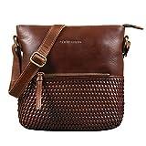 STILORD 'Liz' Damentasche geflochtenes Leder Handtasche Frauen Umhängetasche Groß Shopper Hobo Bag Elegante Schultertasche Tote Bag Vintage, Farbe:Torres - braun
