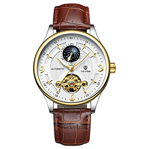 Festnight Tevise automatische Männer mechanische Uhr leuchtende wasserdichte Sport männliche Uhr Business Armbanduhr