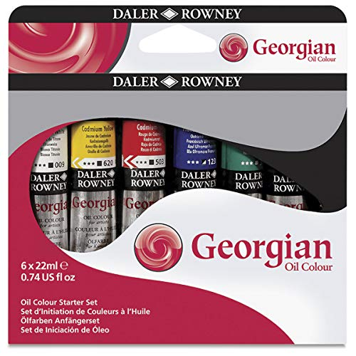 Daler-Rowney Georgian Oil Colors - Cadmium Yellow Deep Hue 75ml Tube