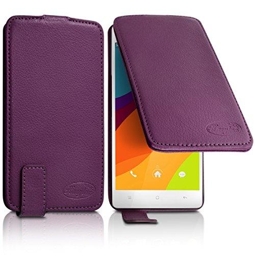 Seluxion Schutzhülle Klappetui Farbe violett für Oppo R3/R - 3 Universal S