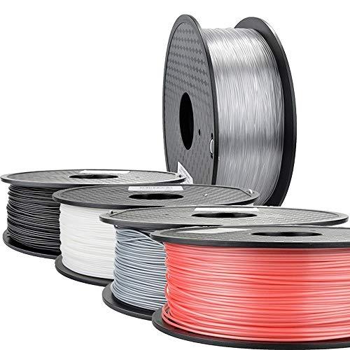 LJJ imprimante 3D 6pcs 3D Sets Filament Imprimante 1,75 PLA PETG en Fibre de Carbone Bois ABS TPU PC Pom PA Céramique Métal ASA Hips Nylon Accessoires