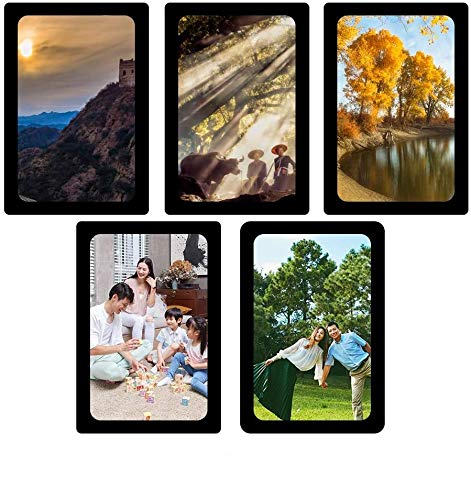 sooard Magnetic Photo Frames, 5 Pack Magnetic Picture Frame 5x7 inch for Refrigerator, Cabinet, Locker,Dishwasher & Other Metallic Surfaces (Black)