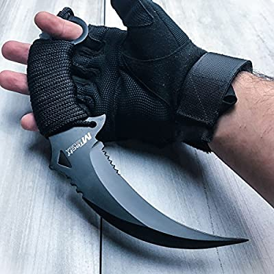 "10"" TACTICAL COMBAT KARAMBIT KNIFE BestSeller989 Survival Hunting BOWIE Fixed Blade"