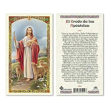 El Credo de Los Apostoles Laminated Prayer Cards - Pack of 25- in Spanish Espanol
