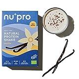 nupro 2.0 Veganes Bio Proteinpulver -Vanilla- Ganzheitlicher Eiweiß Shake aus Pflanzlichen Proteinen zur Versorgung von Muskulatur & Darmflora [Ohne Soja, Aromen oder Süßstoff 3x200g]