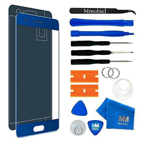 MMOBIEL Kit de Reemplazo de Pantalla Táctil Compatible con Honor 9 (Azul) 5.15 Pulgadas Incluye Kit de Herramientas/Etiqueta precortada/Limpiador de Microfibra/Alambre Metálico