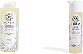 The Honest Company Truly Calming Lavender Bubble Bath, 12 fl. oz. and The Honest Company Truly Calming Lavender Shampoo + ...