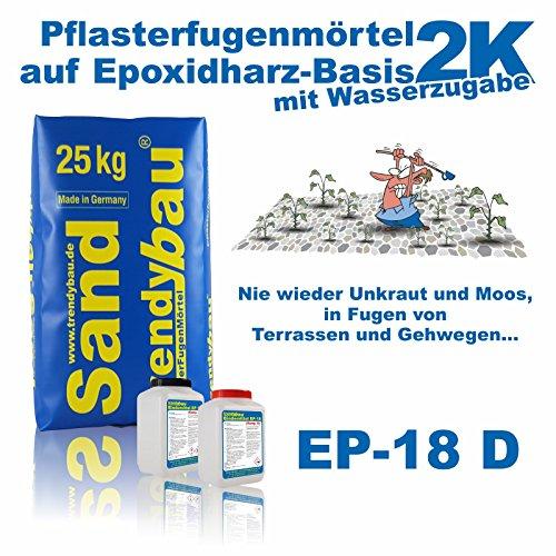 trendybau 2K Pflasterfugenmörtel DränFuge EP-18 D steingrau 26,8 kg