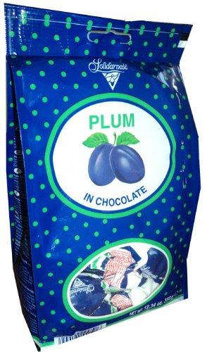 Solidarnosc Candied Plums in Dark Chocolate Sliwka Naleczowska (12.34 Ounces)