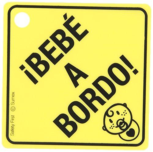 Sumex babyesp – Poster Avertissement Bébé à Bord avec Ventouse