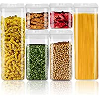 FANSIY 6-Pieces BPA Free Airtight Food Storage Containers